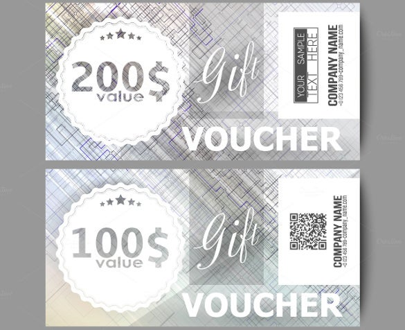 set of modern gift voucher template