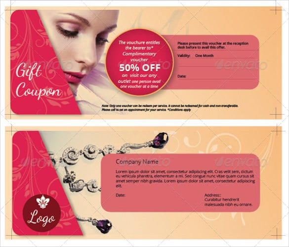 a promotional gift coupon template