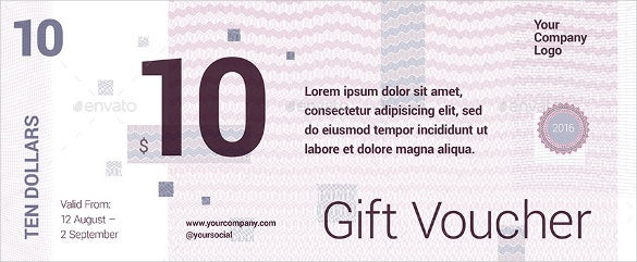 front and back design gift voucher template
