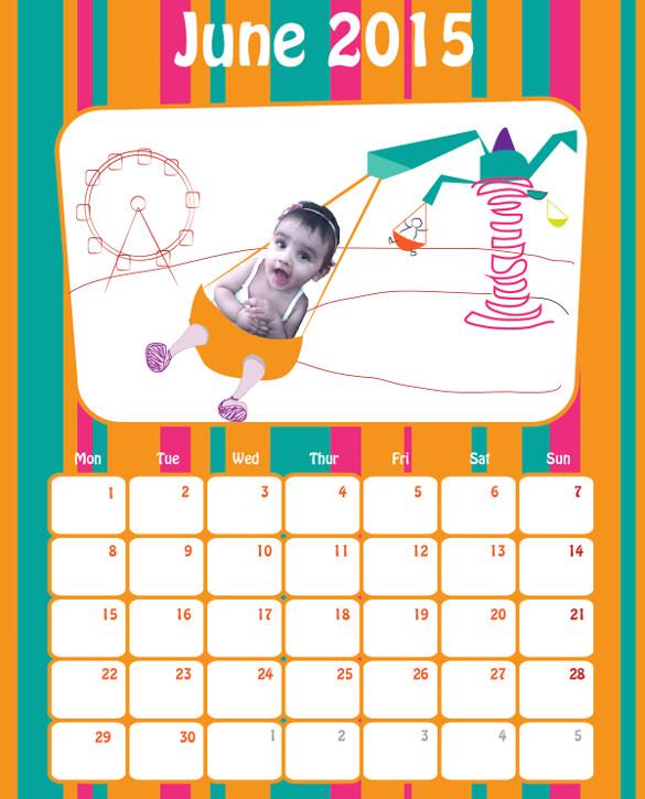 unique birthday calendar template freedownload