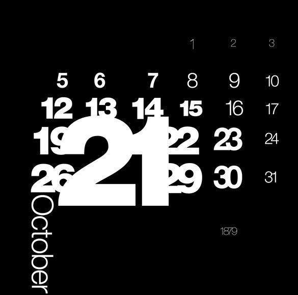 black background birthday calendar template