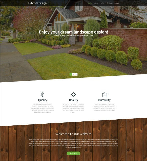 design responsive website html5 template