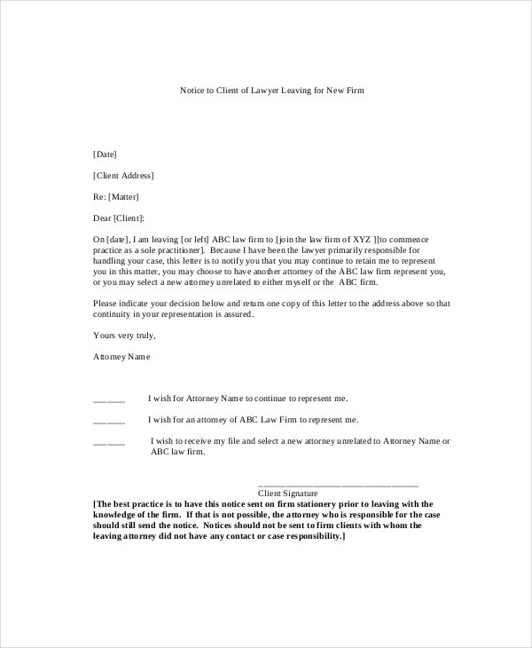 Notice Letter Template