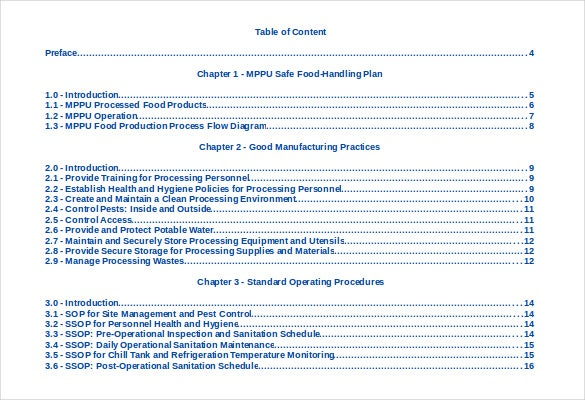 25 table of contents pdf doc free premium templates for Table of contents template google docs