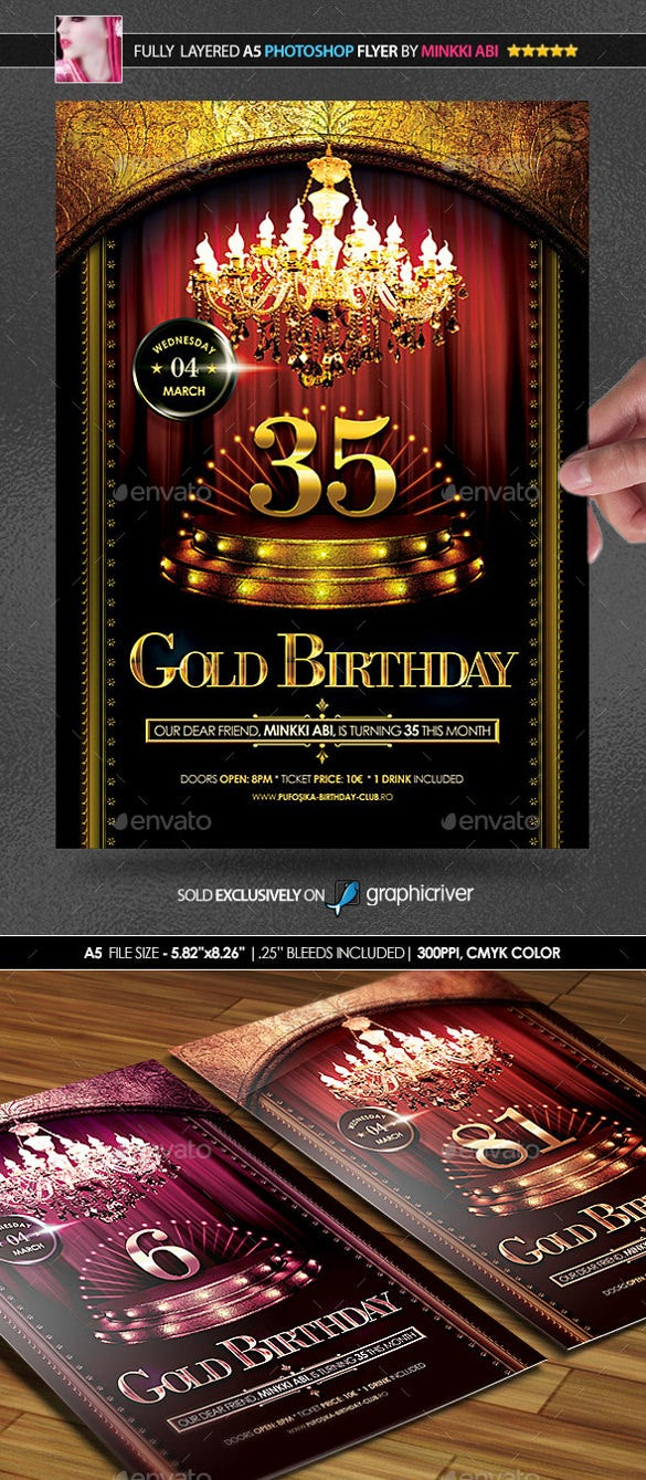 age jubilee birthday sample poster template