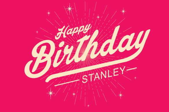 starburst birthday poster template