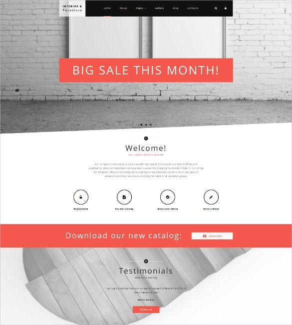 interior furniture joomla blog template
