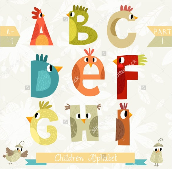stylish very cute children alphabet download