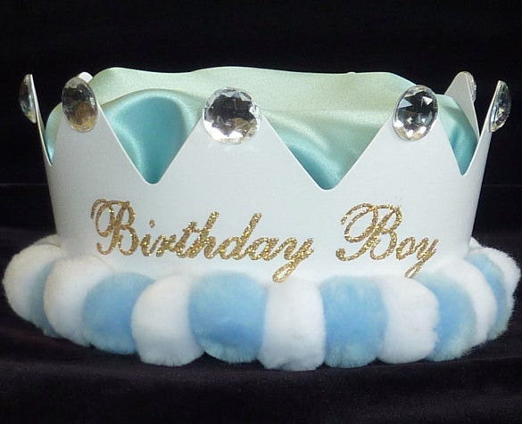 boy birthday crown template