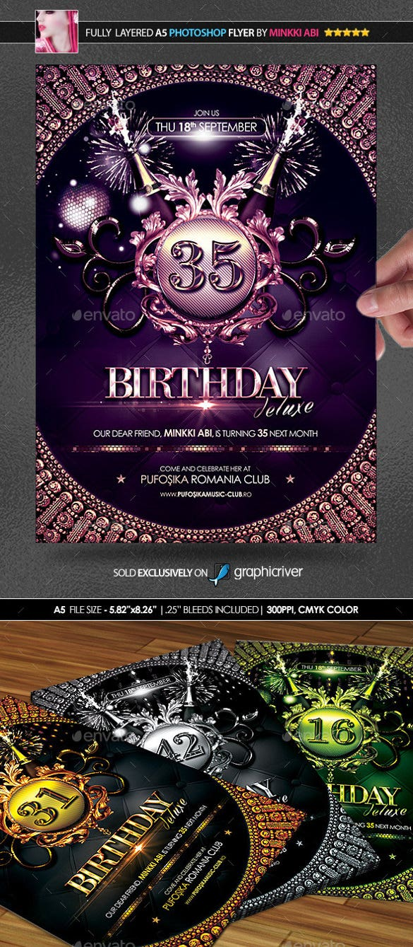 amazing birthday poster sample template