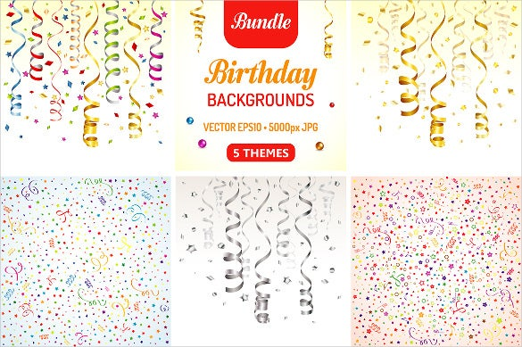 ribbon birthday poster template