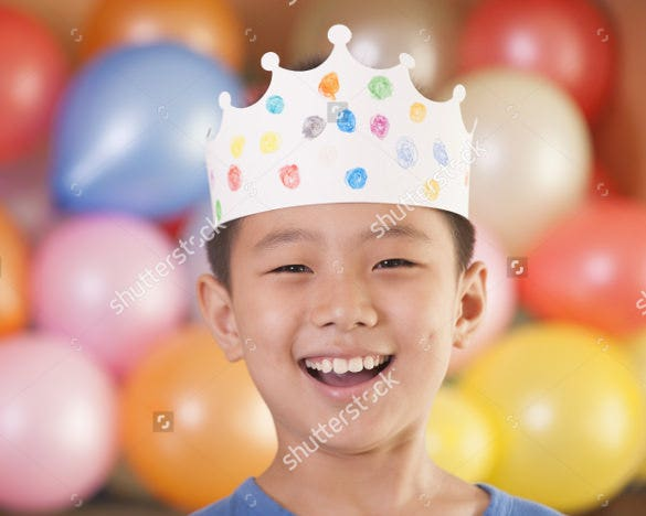 birthday crown template for boys