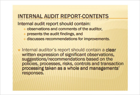 Internal Audit Report Writing PDF Printable Download  Audit Findings Template