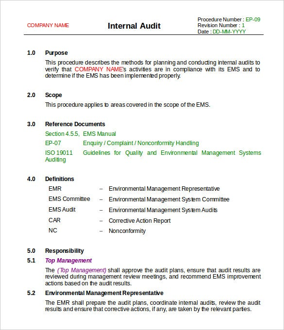 Enquiry Internal Audit Report Template Word Format Download  Format For Audit Report