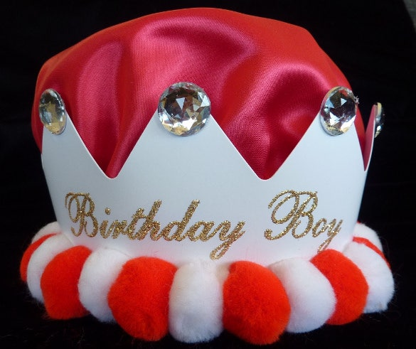 attractive boy birthday crown template