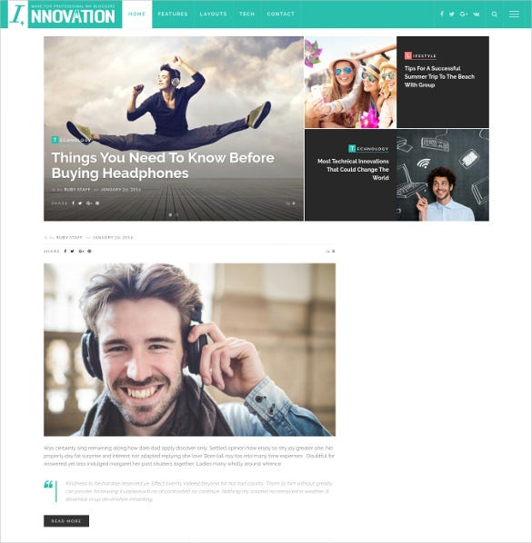 innovation responsive wordpress blog theme