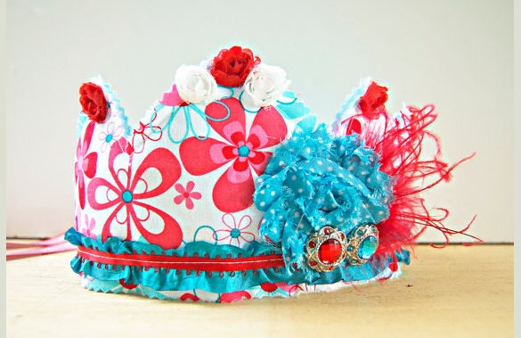 redaqua princess birthday crown template