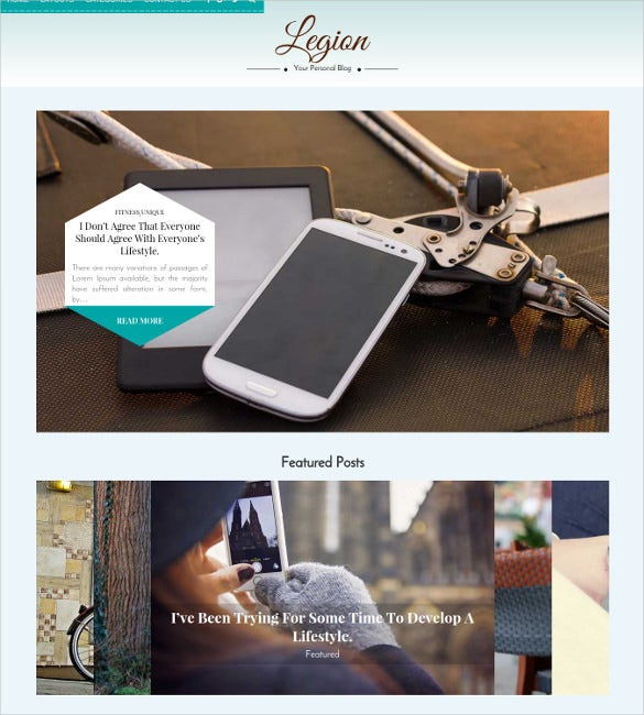 legion multipurpose responsive wordpress blog theme