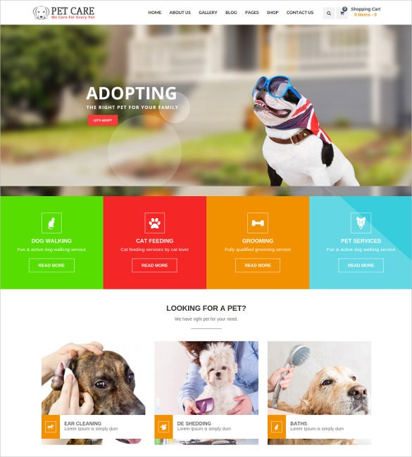 petcare wordpress multipurpose blog theme