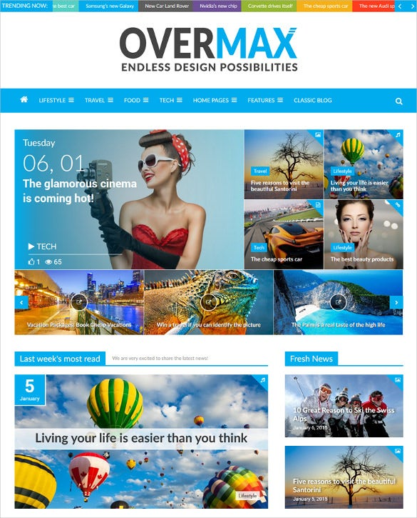 overmax a highly customizable wordpress magazine blog theme