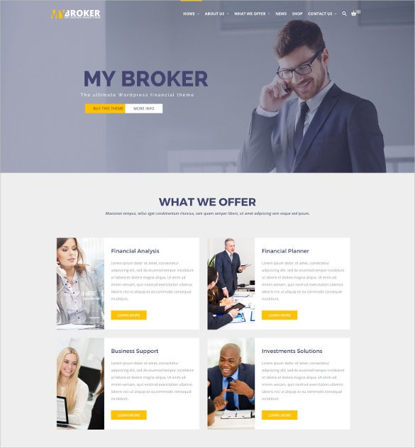 broker – business finance wordpress blog theme