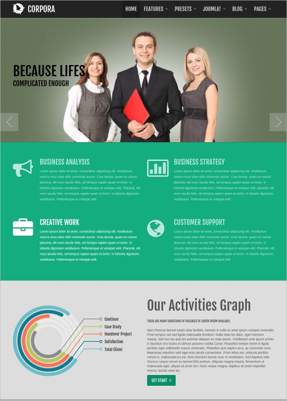 corporate joomla website template