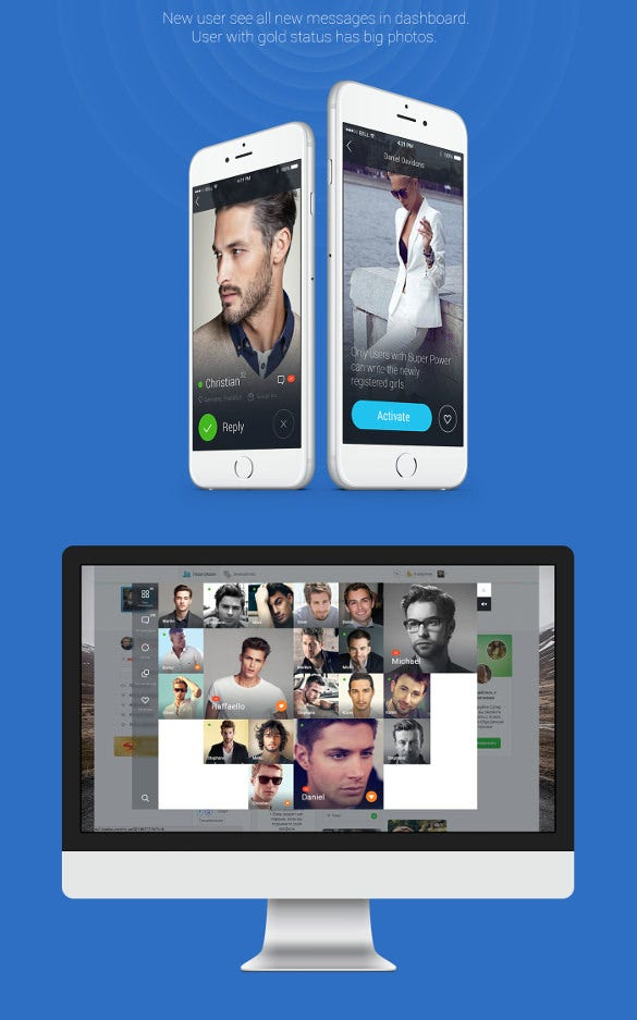 mobile dating app template Features of appy pie's dating app builder building the perfect dating app is not so difficult anymore you can now create your own dating app by using the tinder clone mobile dating app from appy pie you can build a dating empire for your mobile on your own with this tinder clone your app can be designed to provide a.