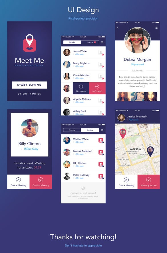 Dating app 16 psd eps format download free for Who can design an app for me