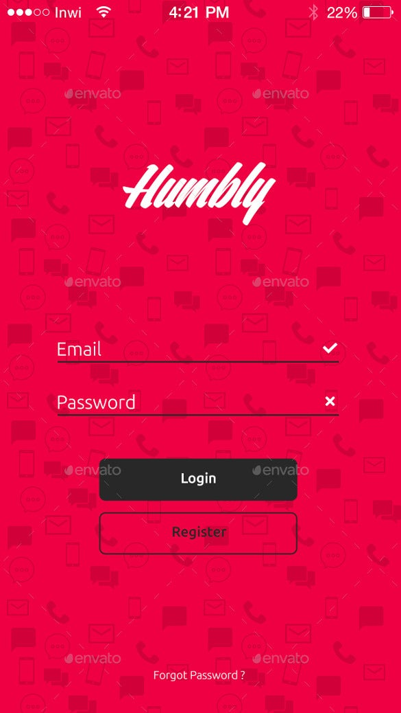 humbly dating mobile app ui design download