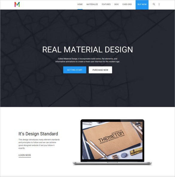 materialize multipurpose blog theme