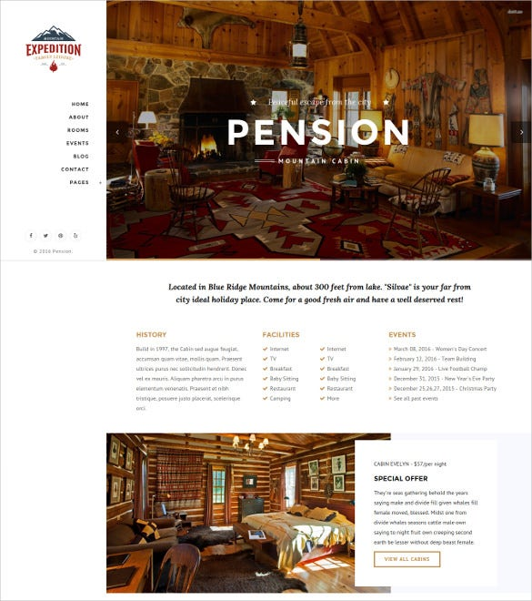 pension bootstrap html blog template