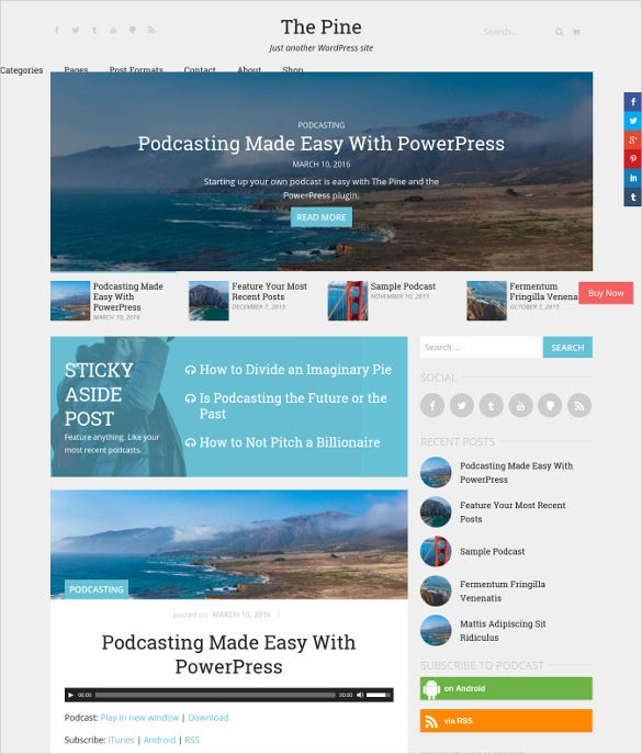 digital store wordpress blog template