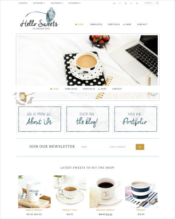 hello sweets wordpress genesis blog theme