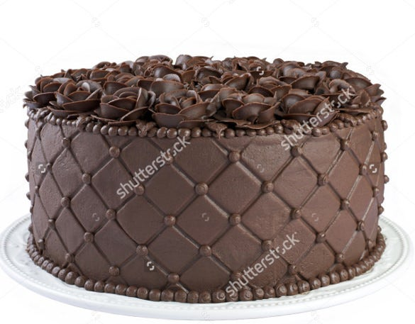 choclate cake with flowers