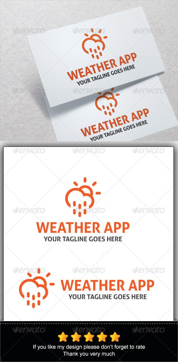 weather app ai illustrator vector eps download
