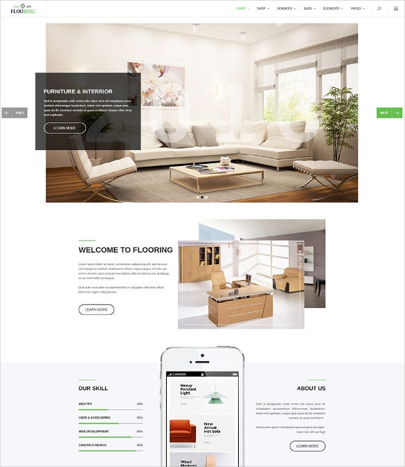 flooring an ideal responsive joomla template