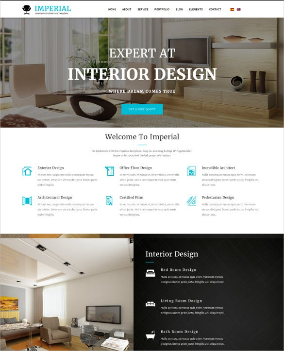 imperial interior architecture joomla template