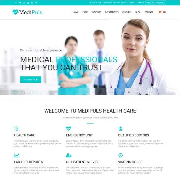 medipuls joomla medical template