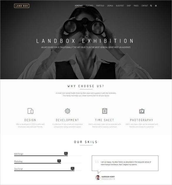 landbox multipurpose joomla template