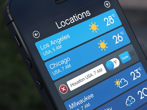 weather app locations list download