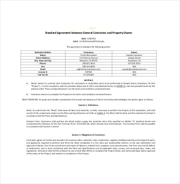 Ownership Agreement Template