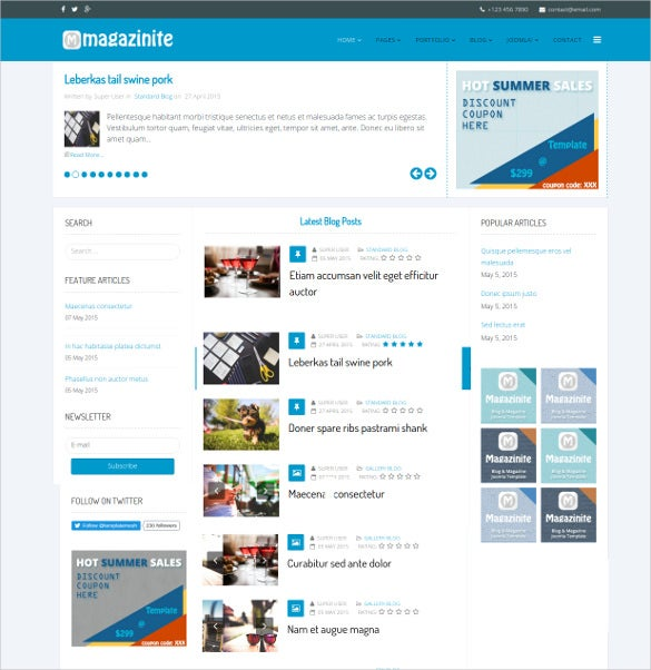 ps magazinite blog joomla template1
