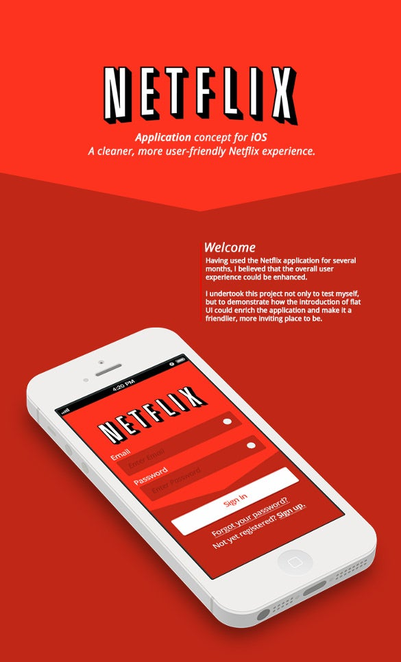 netflix ios7 app designs download