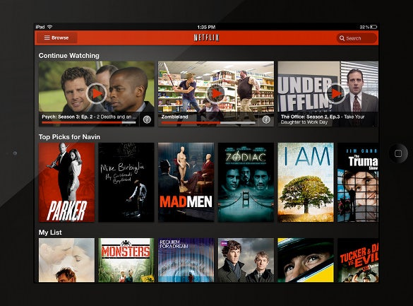 netflix app designs ipad ui evolution