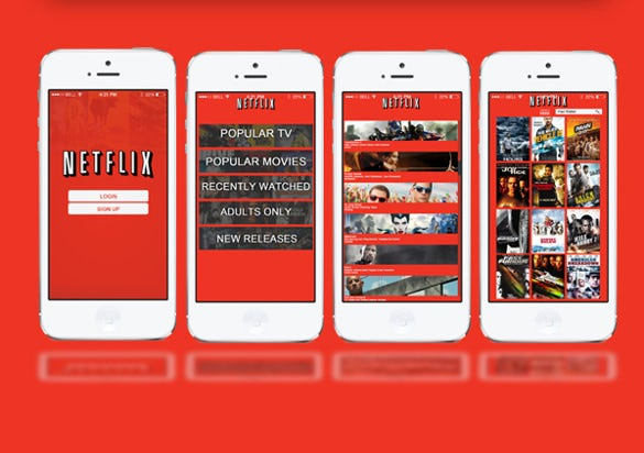 netflix app designs  u2013 10  psd  eps  format download