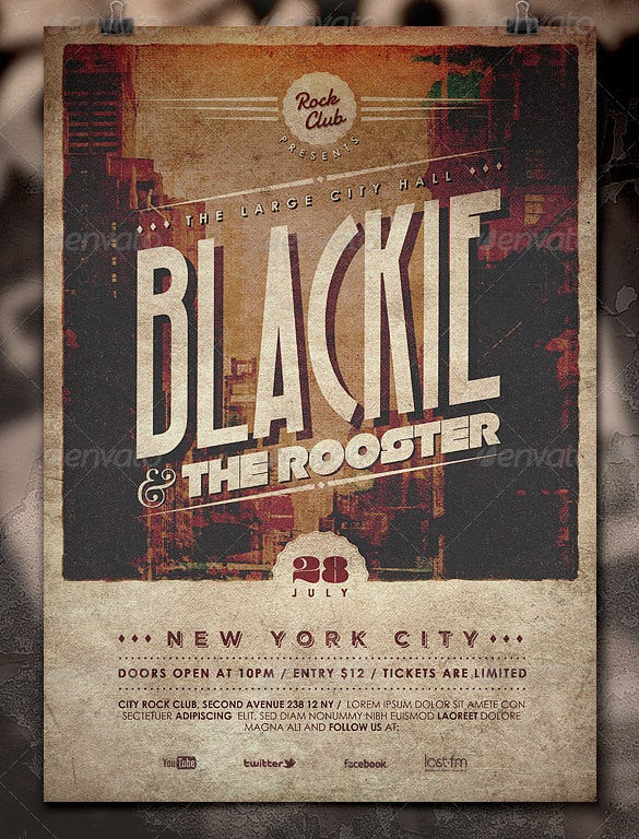 alternative events vintage poster psd download
