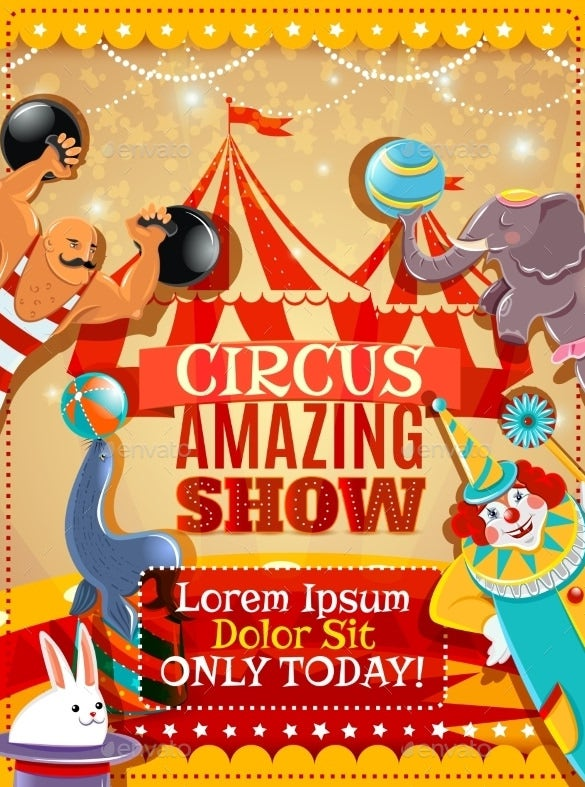 circus performance announcement vintage poster download