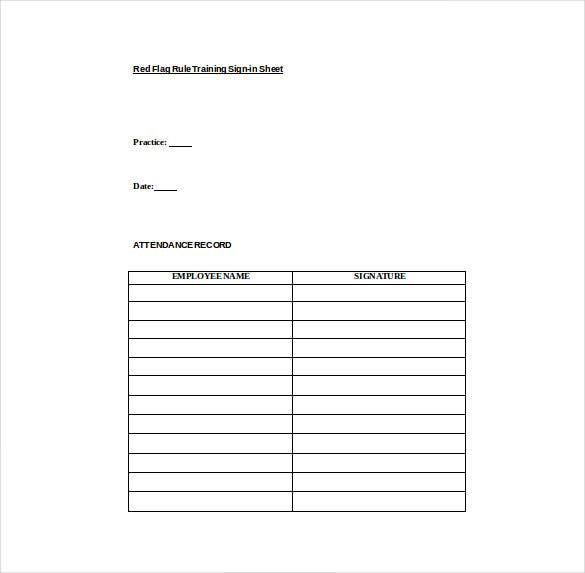 osha training sign in sheet word template free download