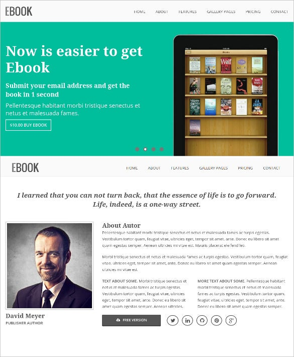 responsive ebook html5 css3 landing page template1