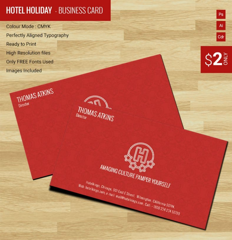 Modern Hotel & Holiday Business Card Template | Free & Premium Templates